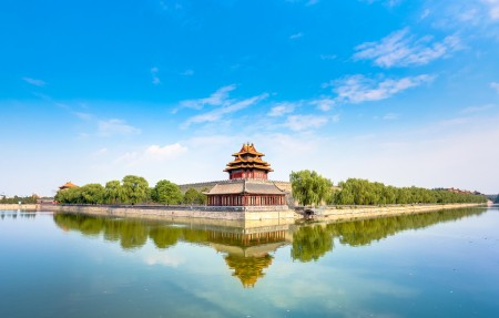 北京紫禁城角楼4K风景高端电脑桌面壁纸