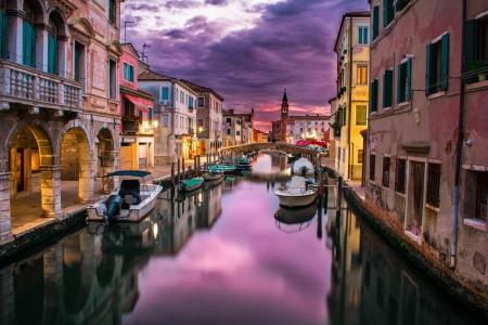 运河 威尼斯 意大利 水 河 建筑物 船 6K风景图片