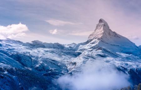 瑞士 阿尔卑斯山 马特峰4K风景高端电脑桌面壁纸