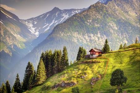 瑞士阿尔卑斯山风光4K高端电脑桌面壁纸