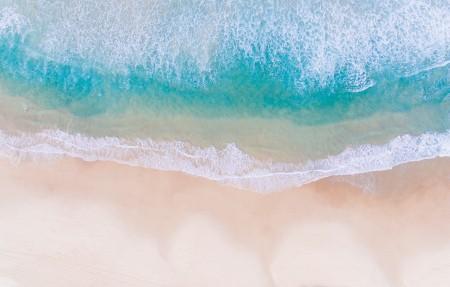 大海 海滩 海水 4K风景高端电脑桌面壁纸