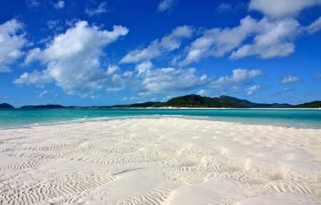 澳大利亚怀特黑文海滩 沙滩 4K风景高端电脑桌面壁纸