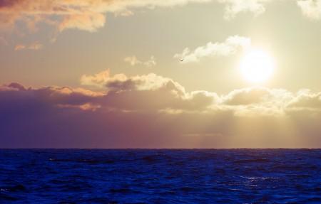 海洋 大海 天空 云 太阳 4K高端电脑桌面壁纸