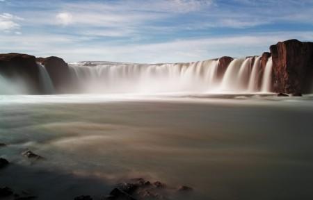 瀑布 水 岩石 壮观的大瀑布风景4K高端电脑桌面壁纸