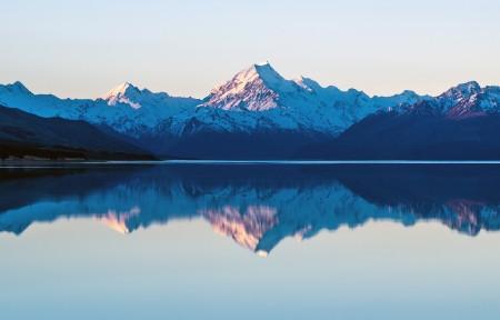 山水湖泊倒影风景3440x1440高端电脑桌面壁纸