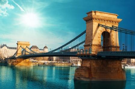 夏天 城市 匈牙利 悬索桥 布达佩斯 4K风景高端电脑桌面壁纸