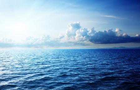 加勒比海 天空 云 4K风景高端电脑桌面壁纸