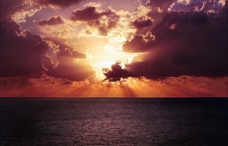 地平线 天空 日落 海洋 海滩 日出 黄昏 4K风景高端电脑桌面壁纸