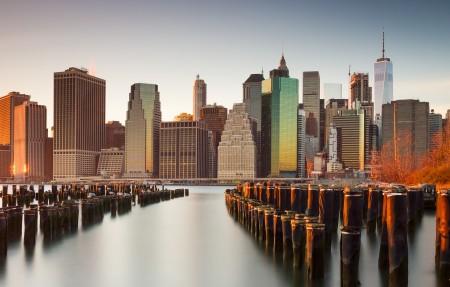 纽约市城市建筑风景4K高端电脑桌面壁纸