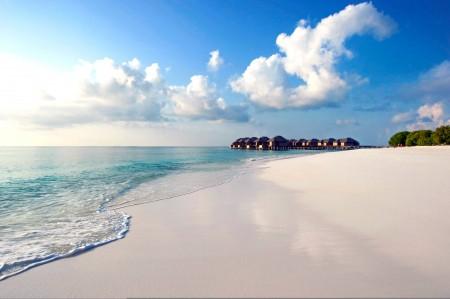 海洋 热带 海滩 马尔代夫风景4K高端电脑桌面壁纸