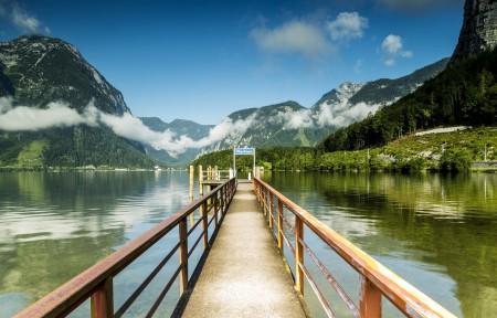 奥地利哈尔施塔特湖4K风景高端电脑桌面壁纸
