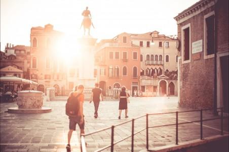 威尼斯广场 日落 4K风景图片