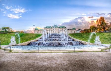 喷泉 维也纳 丽城 4K风景高端电脑桌面壁纸