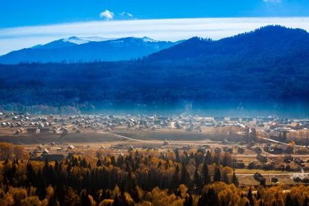 山 村庄 新疆的5K风景图片