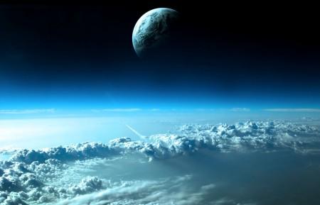 美丽的太空月球5k高清高端电脑桌面壁纸