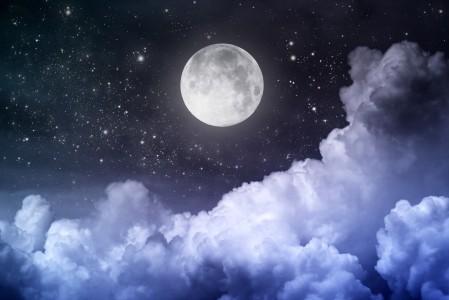 月亮月光的夜晚 午夜4K风景高端电脑桌面壁纸