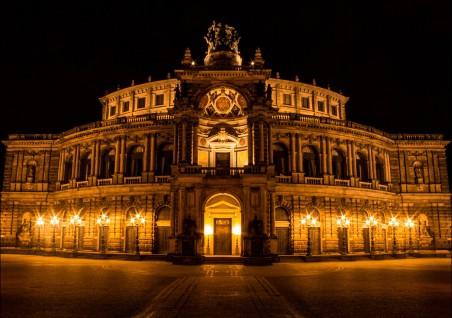 德累斯顿 皂苷歌剧院 歌剧 4k风景图片
