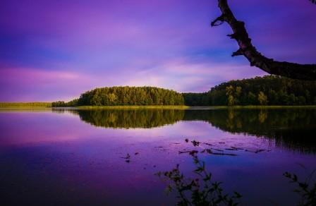 天空 水 湖 云 波兰风景5k图片