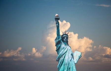 纽约自由女神像4K风景图片高端电脑桌面壁纸