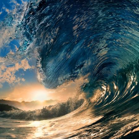 热带天堂 海洋 海浪4K图片