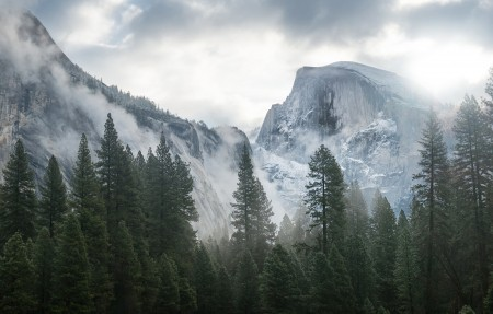 优胜美地国家公园5K风景高端电脑桌面壁纸