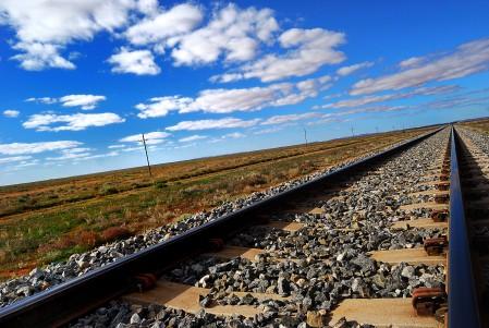 铁路 天空 云 4K风景图片