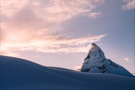 冬天 雪 山 4K摄影图片