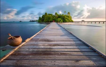马尔代夫曼德芙岛5K风景图片