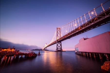 海湾大桥风景4K高端电脑桌面壁纸