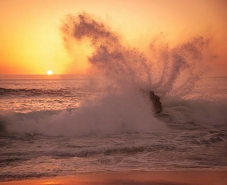 海洋沙滩海岸日出日落4K风景图片