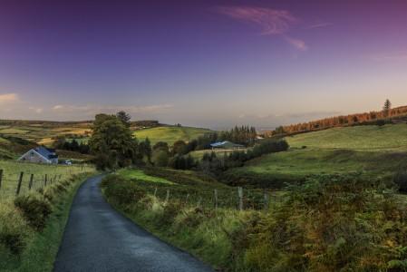 都柏林 爱尔兰 路 自然风景4K图片