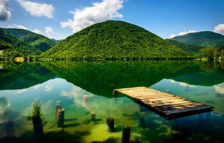 波斯尼亚和黑塞哥维那,山脉,湖水,绿色自然风景4K超高清壁纸推荐
