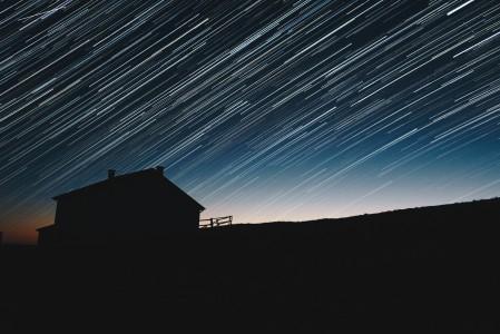 流星雨 星空 4K风景图片