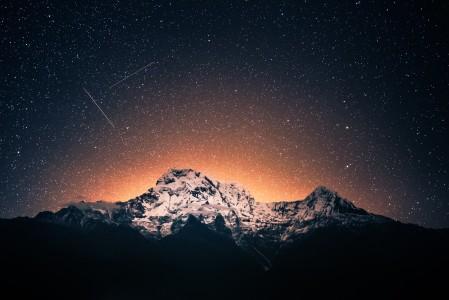 安纳普尔纳山 夜晚 星空 4K风景图片