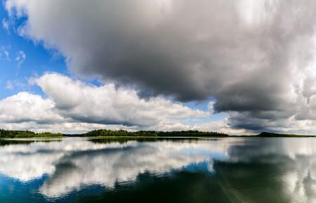 水 云 马祖里 波兰 蓝色天空 4k风景图片