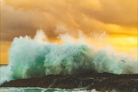 大海海浪4k风景图片