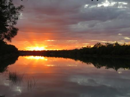 澳大利亚 湖 浪漫 黄昏 日落 4k风景图片