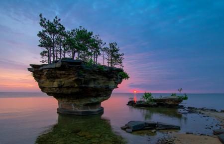美国密歇根州休伦湖4K风景图片