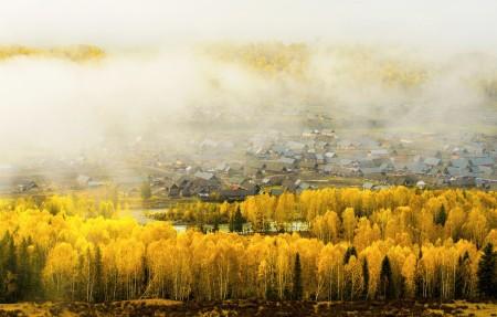 新疆仙境禾木4k风景图片