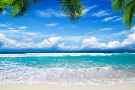 夏季海滩海边风景4K高端电脑桌面壁纸