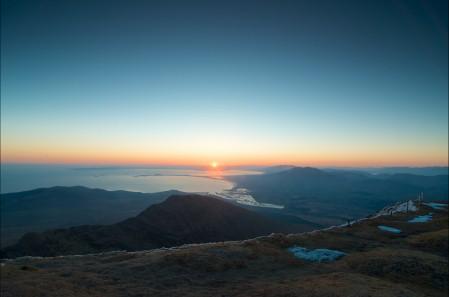 天空 太阳 日落 4K风景图片