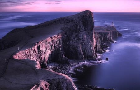 苏格兰 灯塔 天空之岛 4k风景高端电脑桌面壁纸