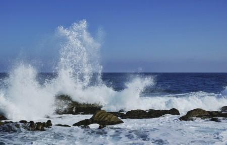 蓝色的大海 冬海 南斯拉夫联盟共和国 海浪4k风景图片