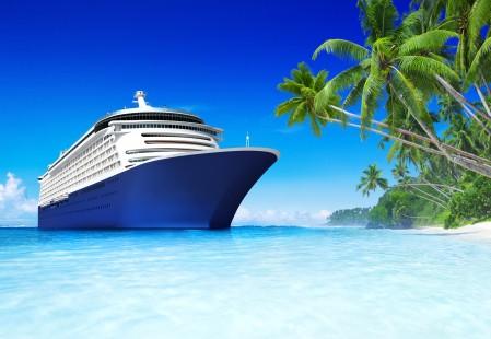 海,船,热带度假,沙滩,棕榈树,风光图片