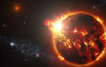 爆炸的星球图片