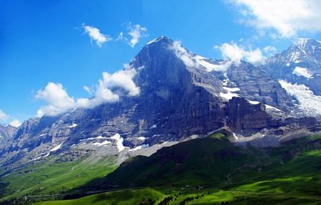 瑞士阿尔卑斯山艾格峰风光图片