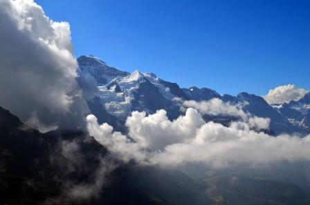 维京 西尔伯霍恩 山 冰川 全景4k图片
