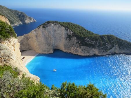海湾 海滨 海滩 漂亮希腊风景4k图片