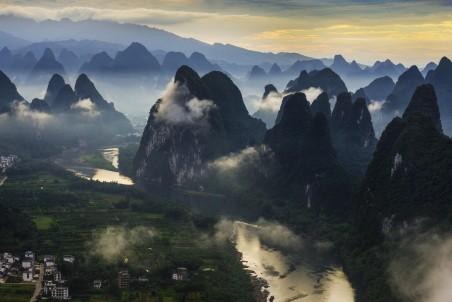 桂林漓江风景4k图片
