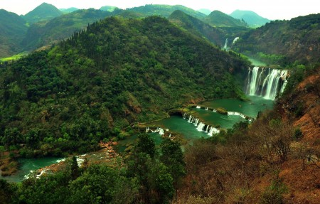 九龙瀑布高清风景图片